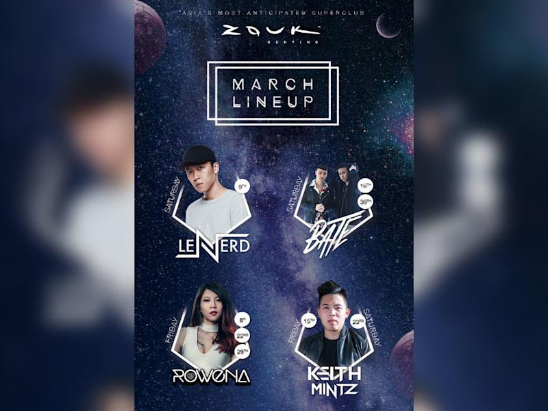 These DJs are heating up Zouk Genting this March!