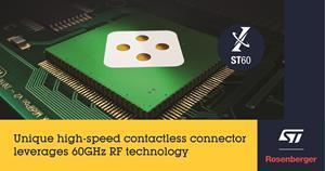 Unique high-speed contactless connector leverages 60GHz RF technology