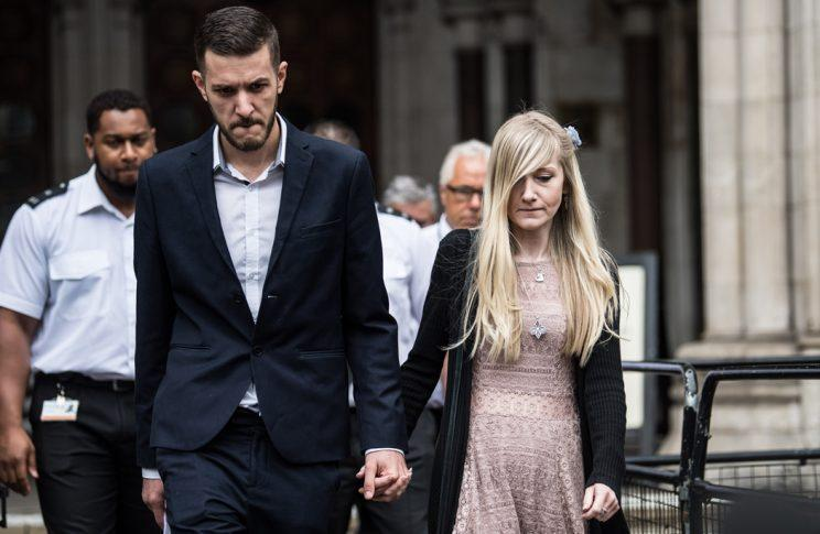 Chris Gard and Connie Yates leaving the High Court yesterday (Rex)