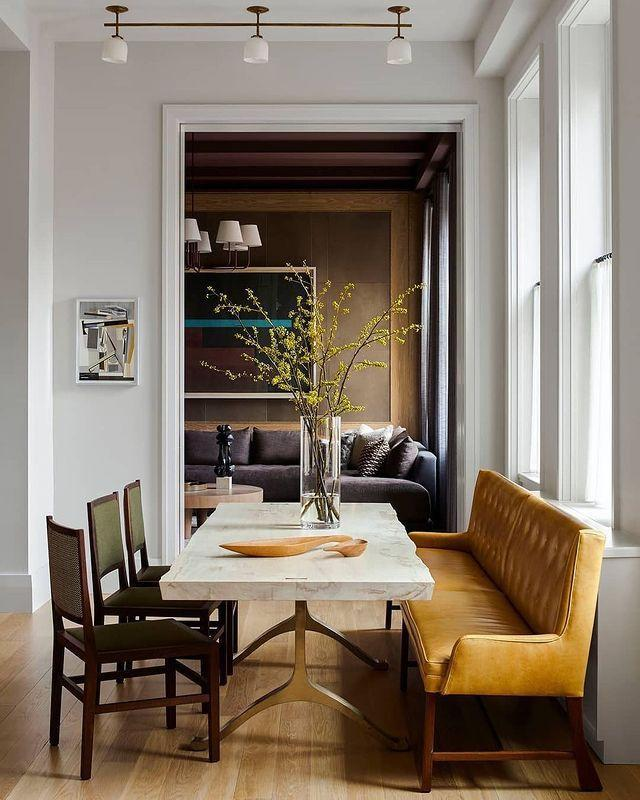 "<p>Earth tones blend harmoniously in a Tribeca home designed by Kevin Dumais.</p><p><a class=""link rapid-noclick-resp"" href=""https://www.elledecor.com/design-decorate/house-interiors/a15895655/kevin-dumais-mid-century-modern-apartment/"" rel=""nofollow noopener"" target=""_blank"" data-ylk=""slk:TOUR THE HOME"">TOUR THE HOME</a></p><p><a href=""https://www.instagram.com/p/B7oXUG2piAf/"" rel=""nofollow noopener"" target=""_blank"" data-ylk=""slk:See the original post on Instagram"" class=""link rapid-noclick-resp"">See the original post on Instagram</a></p>"