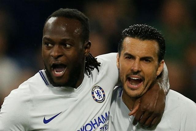 Victor Moses struck a 69th-minute winner for Chelsea to give Antonio Conte's side a 2-1 Premier League victory over Burnley at Turf Moor on Thursday, closing the gap on fourth-placed Tottenham Hotspur