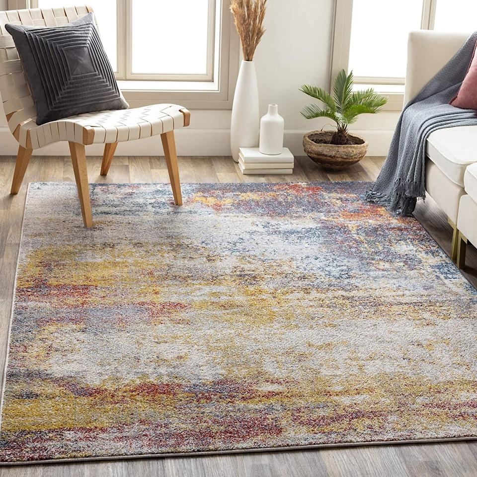 """<h2><a href=""""https://www.amazon.com/dp/B089XZ7Q2T/ref=sspa_dk_detail_1?"""" rel=""""nofollow noopener"""" target=""""_blank"""" data-ylk=""""slk:Artistic Weavers Gaillard Rug"""" class=""""link rapid-noclick-resp"""">Artistic Weavers Gaillard Rug</a></h2><br>Bright hues and abstract details make this artistic rug well worth the price. This rug has everything you need for the ultimate accent piece. <br><br><strong>Artistic Weavers</strong> Artistic Weavers Gaillard Rug, $, available at <a href=""""https://www.amazon.com/dp/B089XZ7Q2T/ref=sspa_dk_detail_1?"""" rel=""""nofollow noopener"""" target=""""_blank"""" data-ylk=""""slk:Amazon"""" class=""""link rapid-noclick-resp"""">Amazon</a>"""