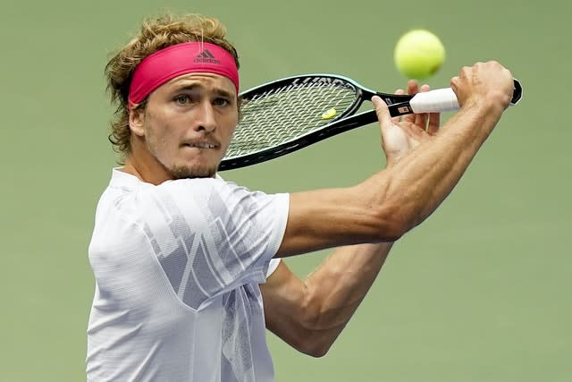 Zverev made many forays to the net