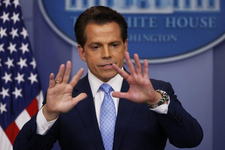 New White House communications director Anthony Scaramucci addresses the daily briefing at the White House in Washington. (Photo: Jonathan Ernst/Reuters)