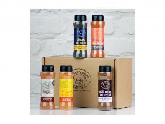 Take you pick from five different barbecue rubs to season your meat with (Borough Box)