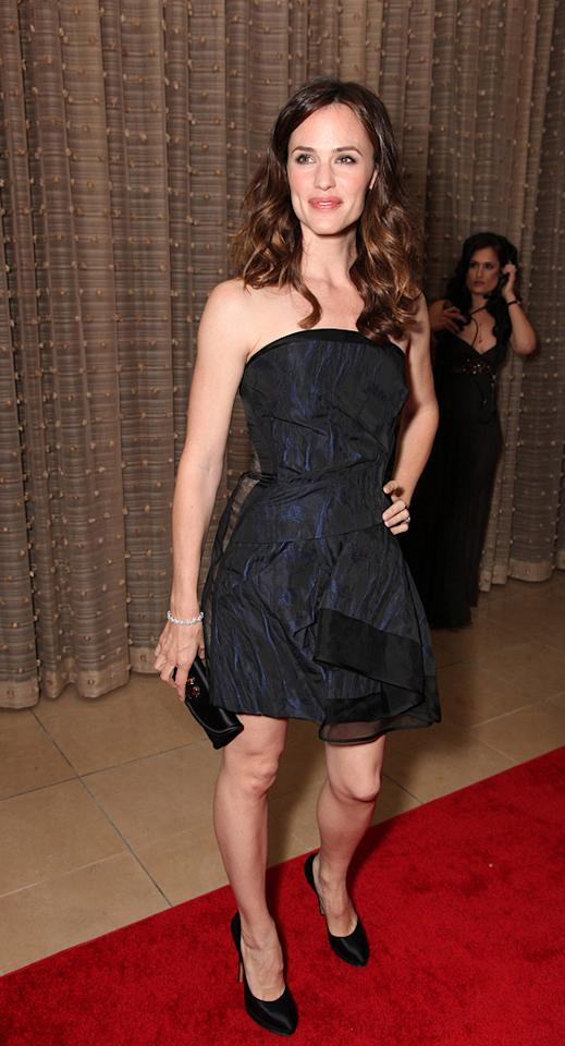 "<a href=""http://movies.yahoo.com/movie/contributor/1800338890"">Jennifer Garner</a> at the 24th American Cinematheque Annual Gala Honoring Matt Damon on March 27, 2010."