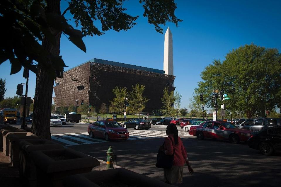 The Smithsonian's National Museum of African American History and Culture is seen in Washington DC in 2016 (AFP Photo/PRESTON KERES)