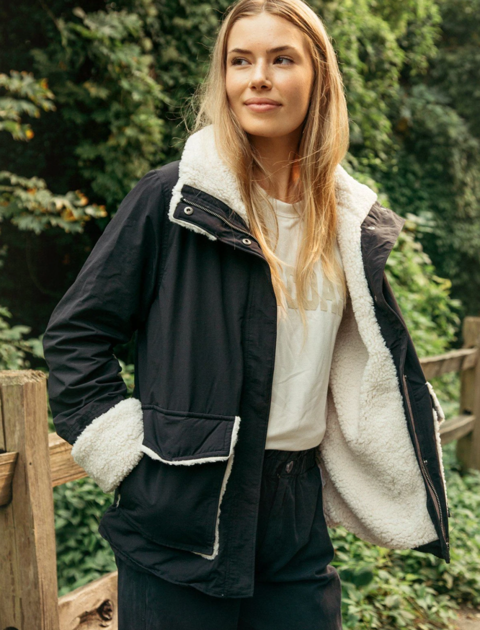 We have a feeling this $79 shearling jacket won't be in stock long. (Photo via @threadandsupply/Instagram)