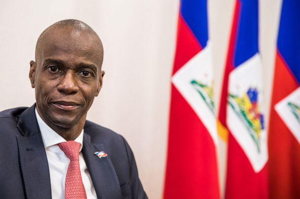 PHOTO: In this file photo taken on Oct. 22, 2019 President Jovenel Moise sits at the Presidential Palace in Port-au-Prince. (Valerie Baeriswyl/AFP via Getty Images, FILE)