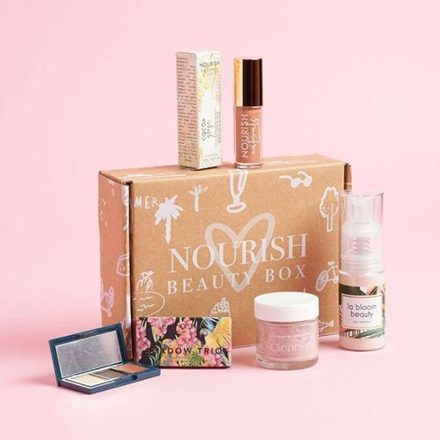 """<p><strong>Nourish Beauty Box </strong></p><p>nourishbeautybox.com</p><p><strong>$30.00</strong></p><p><a href=""""https://nourishbeautybox.com/products/nourish-beauty-box-month-to-month"""" rel=""""nofollow noopener"""" target=""""_blank"""" data-ylk=""""slk:Shop Now"""" class=""""link rapid-noclick-resp"""">Shop Now</a></p><p>This subscription service seeks to imbue beauty regimens with cruelty-free serums, hair oils, and more, derived from natural ingredients. </p><p><strong>Cost:</strong> $30 per month</p>"""