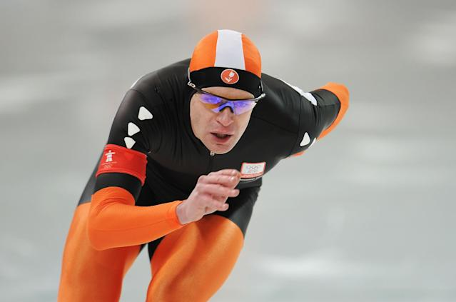 <p>Dutch speed skater Jan Bos made his Olympic debut at the 1998 Winter Games in Nagano. He went on to represent the Netherlands in the 2002, 2006 and 2010 Winter Games, winning silver medals in the 1,000 meter in Nagano and Salt Lake City. (Getty) </p>