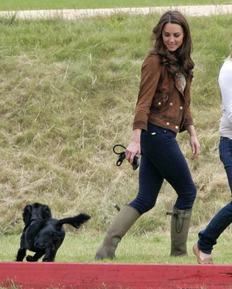 <p>We all rejoiced when the Duke and Duchess introduced their adorable first addition to their family in the form of a black cocker spaniel named Lupo. <i>[Photo: Indigo/Getty Images]</i></p>