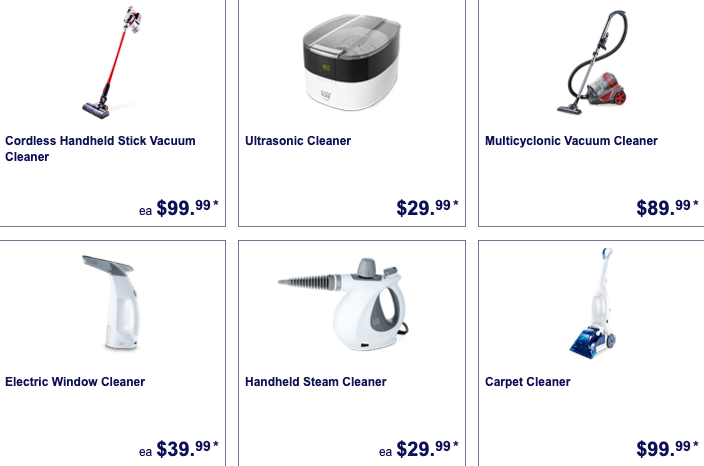 Cleaning equipment on sale as Special Buys at Aldi this week.