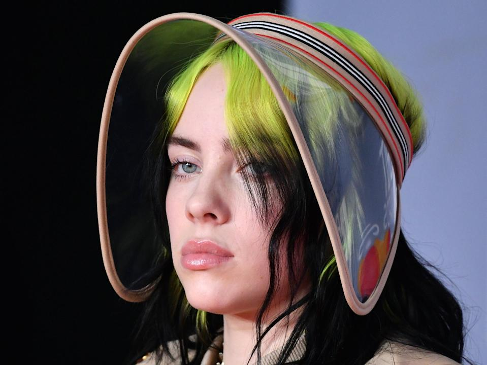 Billie Eilish attends the BRIT Awards on 18 February 2020 in London, England (Gareth Cattermole/Getty Images)