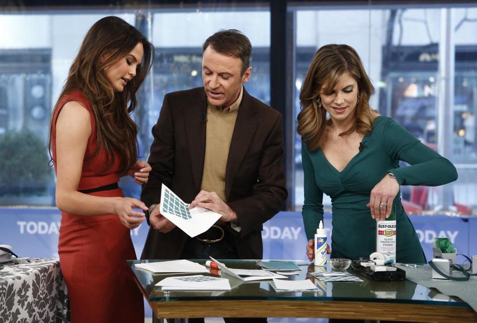 TODAY -- Pictured: (l-r) Chrissy Teigen, Colin Cowie and Natalie Morales appear on NBC News'