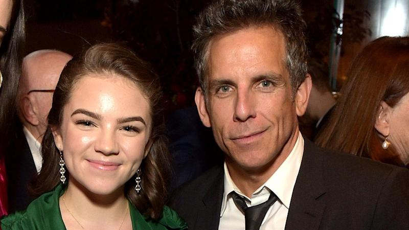 The actor made a rare appearance with his daughter while promoting his movie, 'Meyerowitz,' on Sunday.