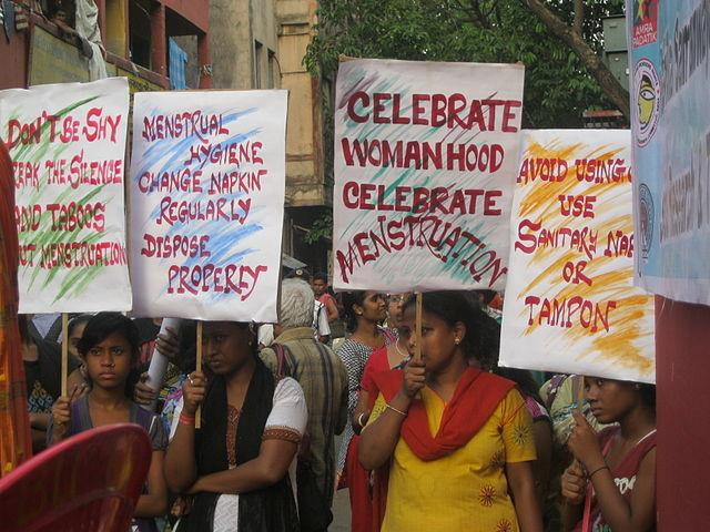 A culture of shame is associated with menstruation in India. Image credit: By WASH United - https://www.flickr.com/photos/gtzecosan/17074816074/in/album-72157626959211983/, CC BY 2.0, https://commons.wikimedia.org/w/index.php?curid=40233016