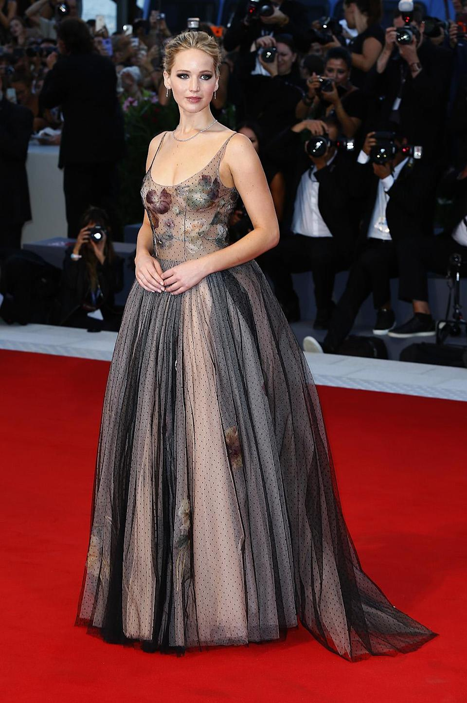 She stunned that same night in a Dior gown. (Photo by Ernesto Ruscio/Getty Images)