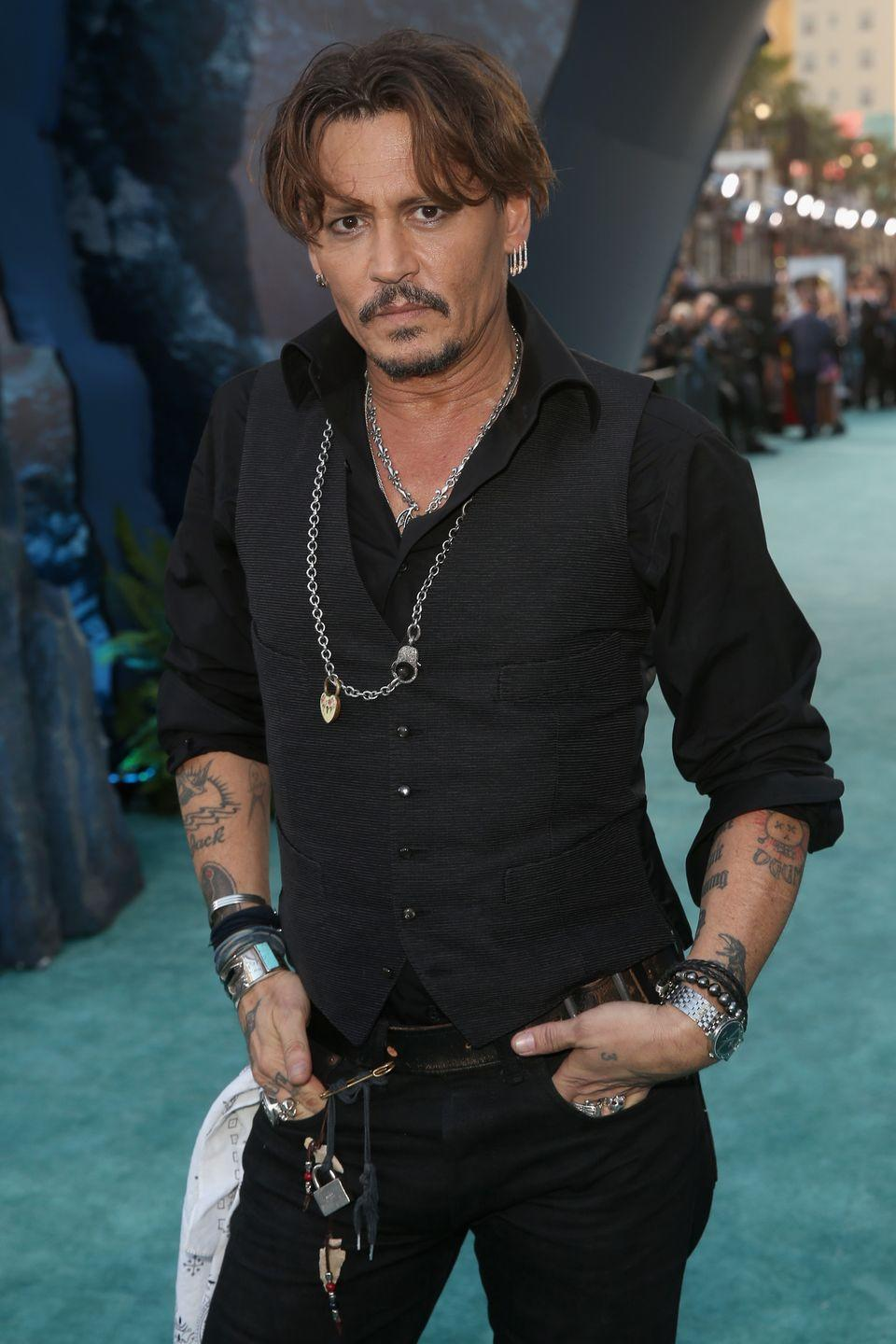 <p>Starting in 2003, Johnny's name became synonymous with Captain Jack Sparrow thanks to his role in the <em>Pirates of the Caribbean </em>franchise. The actor also recently appeared in the Harry Potter film <em>Fantastic Beasts and Where to Find Them</em> in 2016.</p>