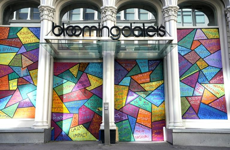 While some stores in New York reopened for curbside pick-up, Bloomingdale's remained boarded up in the wake of looting sparked by the death in police custody of George Floyd in Minneapolis (AFP Photo/TIMOTHY A. CLARY)