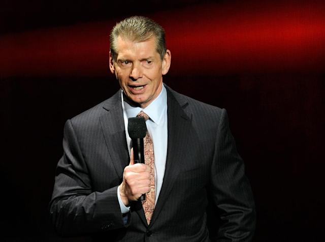 Vince McMahon, pictured in 2014, said the eight-team XFL -- a reboot of the competition which lasted for one season in 2001 -- would kick off in 2020 (AFP Photo/Ethan Miller)