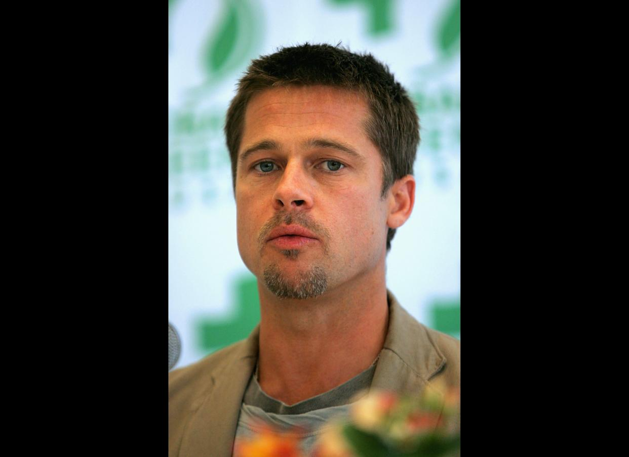 Brad Pitt and Global Green USA visits New Orleans. Photo: Getty Images