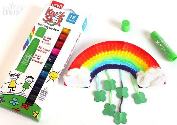 """<p>All you need for this cute rainbow craft is a paper plate, construction paper, paint markers and cotton balls. </p><p><em><a href=""""https://cutesycrafts.com/2016/02/paper-plate-rainbow-st-patricks-day-craft.html"""" rel=""""nofollow noopener"""" target=""""_blank"""" data-ylk=""""slk:Get the tutorial at Cutesy Crafts »"""" class=""""link rapid-noclick-resp"""">Get the tutorial at Cutesy Crafts »</a></em></p>"""