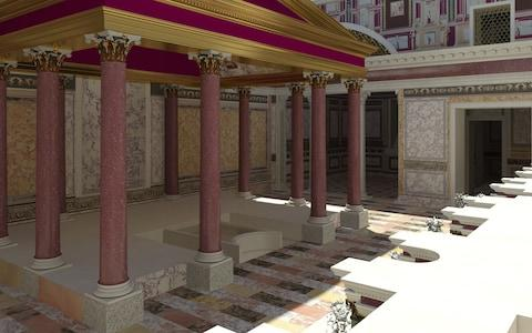 A virtual reality reconstruction of what part of the palace would have looked like 2,000 years ago - Credit: Electa