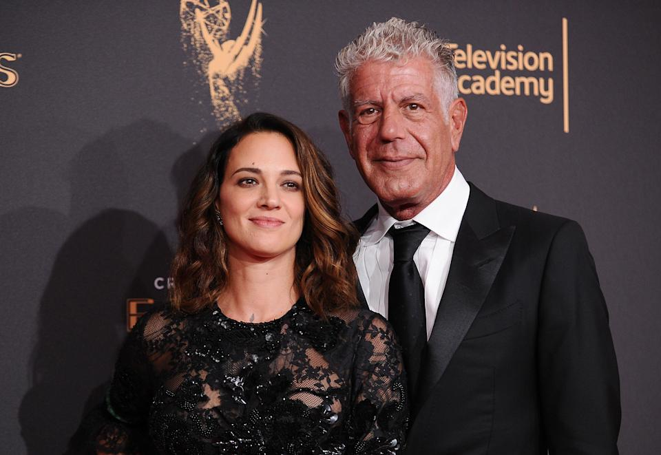Argento accused Dove of spreading lies about the death of Anthony Bourdain. (Photo: Jason LaVeris/FilmMagic)