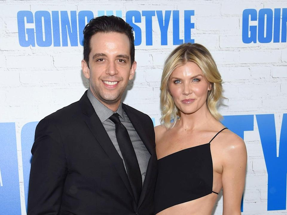 Nick Cordero and Amanda Kloots attend the Going In Style New York premiere on 30 March 2017 in New York City (Dimitrios Kambouris/Getty Images)