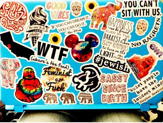 Stickers on your laptop the status symbol of choice on college campuses