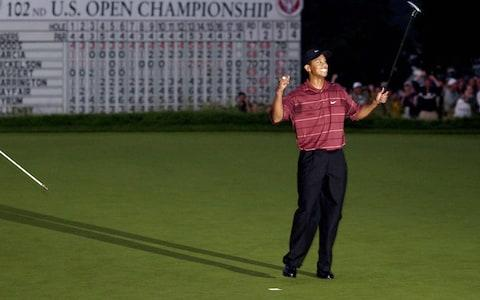 Tiger Woods, 2002 US Open at Bethpage Black - Credit: Getty Images