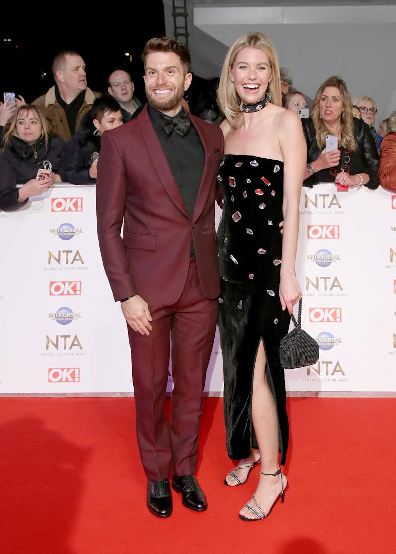 LONDON, ENGLAND - JANUARY 28: Joel Dommett and Hannah Cooper attend the National Television Awards 2020 at The O2 Arena on January 28, 2020 in London, England. (Photo by Mike Marsland/WireImage)