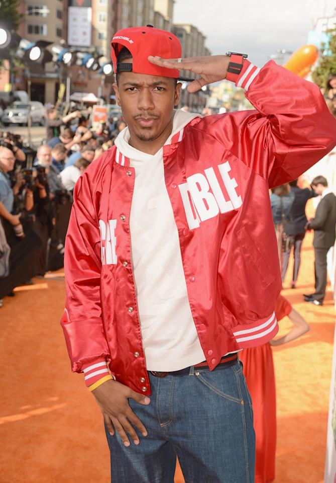 Nick Cannon arrives at the 2012 Nickelodeon Kids' Choice Awards in Los Angeles, California.
