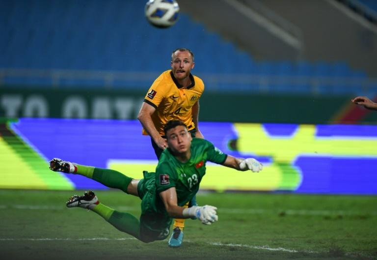 Rhyan Grant sealed the win for Australia with his first international goal (AFP/Manan VATSYAYANA)