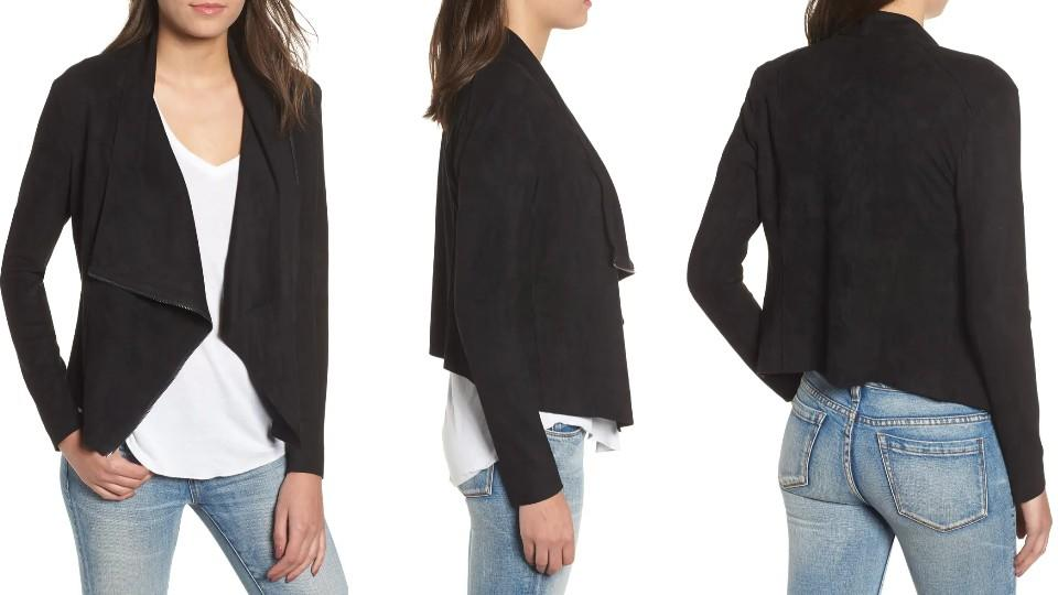 BLANKNYC Drape Front Faux Suede Jacket - Nordstrom, $47 (originally $78)