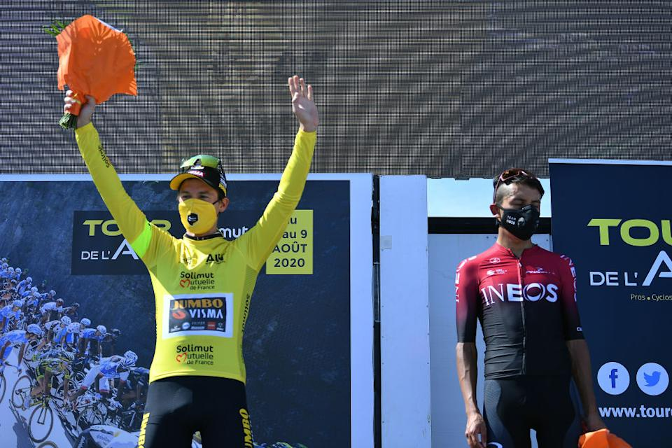Disappointment for Bernal as Roglic takes the spols