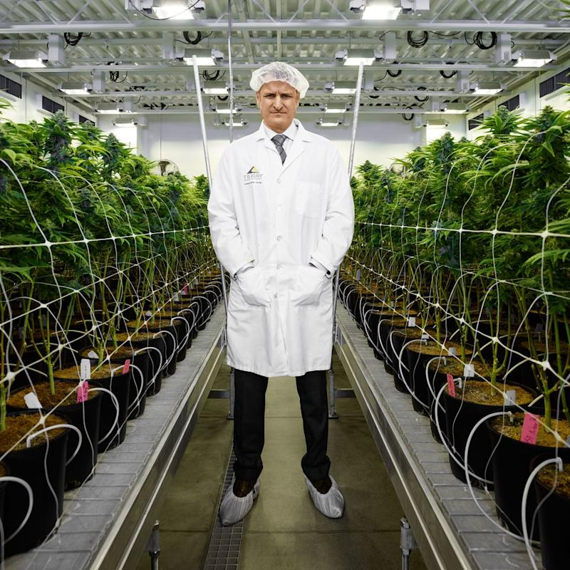 "Kennedy in Tilray's Nanaimo grow facility. ""It was inevitable the U.S. would legalize,"" Kennedy says. ""The frustrating part was, how did everyone else not see it?"""