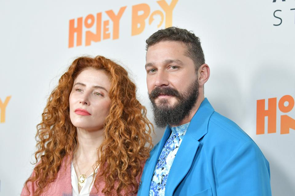 "HOLLYWOOD, CALIFORNIA - NOVEMBER 05: Alma Har'el and Shia LaBeouf attend the premiere of Amazon Studios ""Honey Boy"" at The Dome at Arclight Hollywood on November 05, 2019 in Hollywood, California. (Photo by Amy Sussman/Getty Images)"