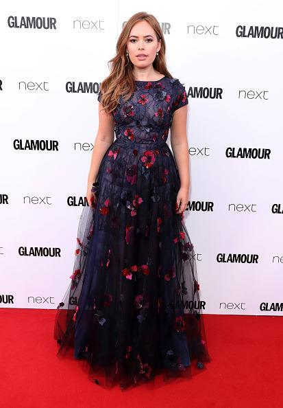 <p>The gorgeous Tanya Burr looked like a princess in this dreamy gown. <i>[Photo: Mike Marsland/Mike Marsland/WireImage]</i></p>