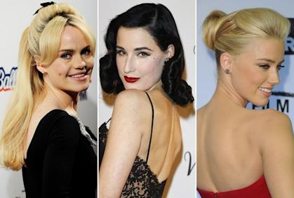 Hollywood loves retro hairstyles!