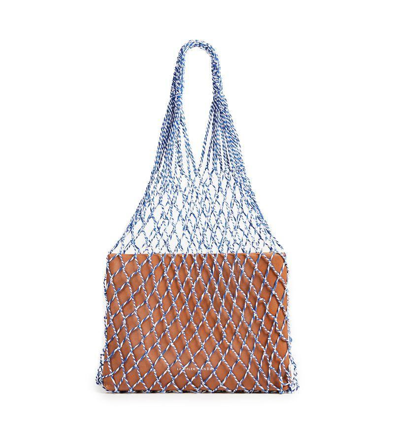 Try the netted bag trend without actually exposing the contents of your bag.