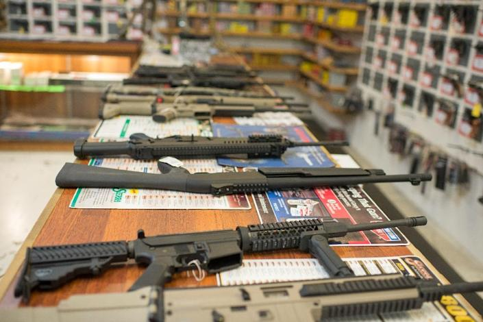 """Background checks for all ammunition purchases would cut the rate to 1.99 per 100,000 people, and """"firearm identification"""" to 1.18 per 100,000 (AFP Photo/Cengiz Yar Jr.)"""