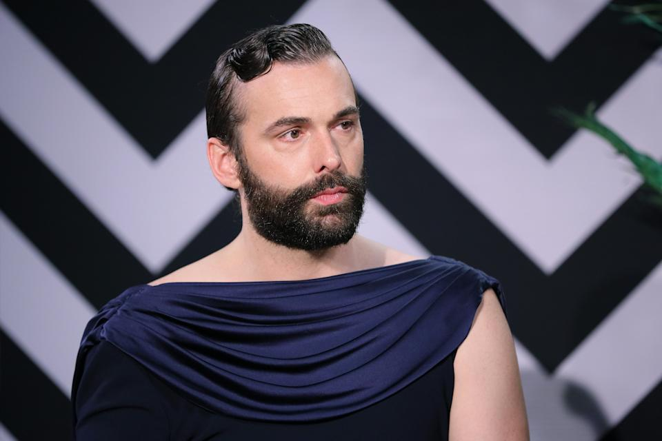 Jonathan Van Ness speaks onstage at The Elton John AIDS Foundation Academy Awards Viewing Party
