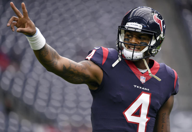 Houston Texans quarterback Deshaun Watson has been doing community work in addition to having a great rookie season. (AP)