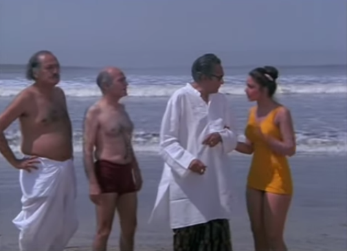 An impish comedy where three amorous oldies compete for the attention of a lovely young girl they meet on a vacation.