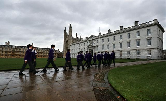 King's College choristers make they way to the chapel for rehearsals in previous years