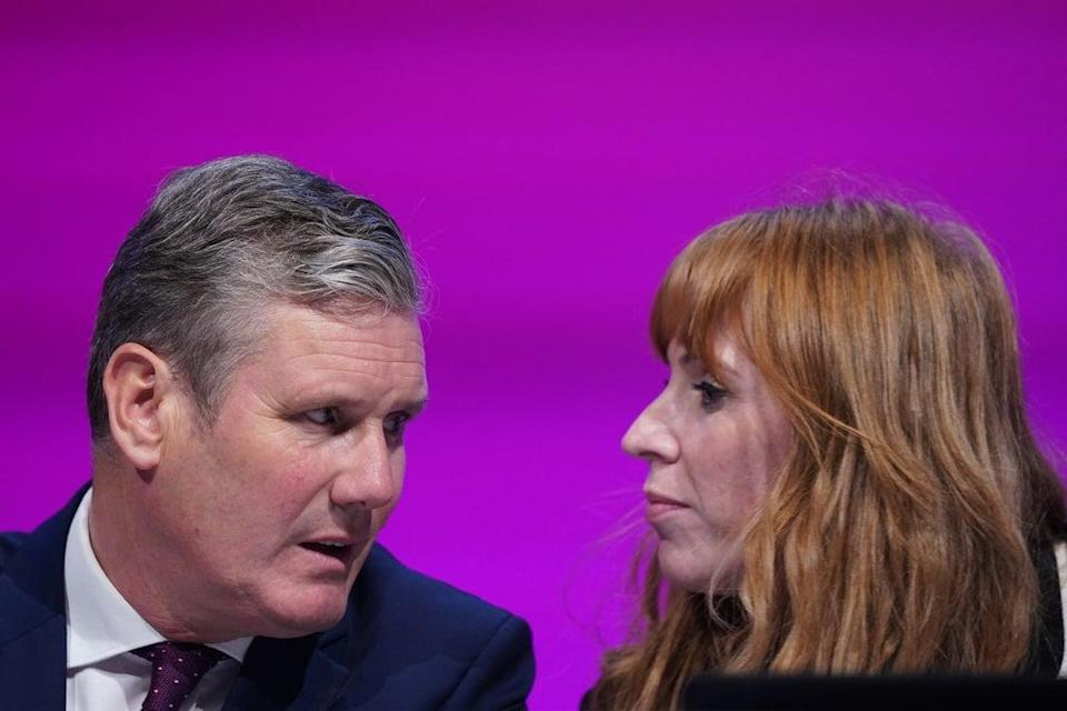 Labour Party leader Sir Keir Starmer and deputy leader Angela Rayner (PA)