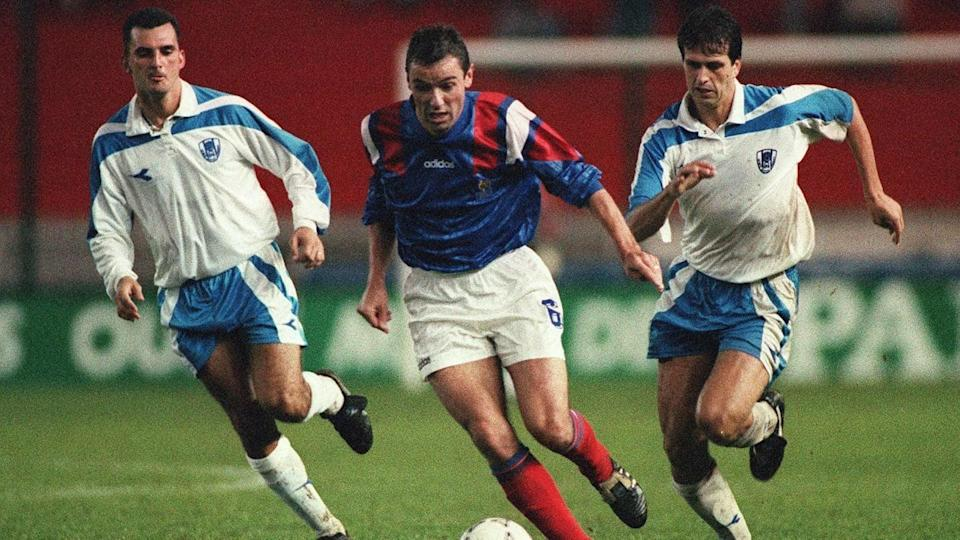 French midfielder Paul Le Guen controls the ball a | JEAN-LOUP GAUTREAU/Getty Images