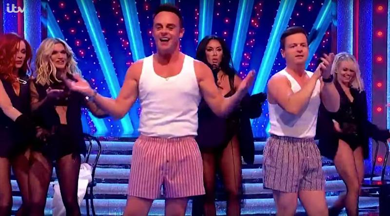 Ant and Dec with the Pussycat Dolls (Photo: ITV)
